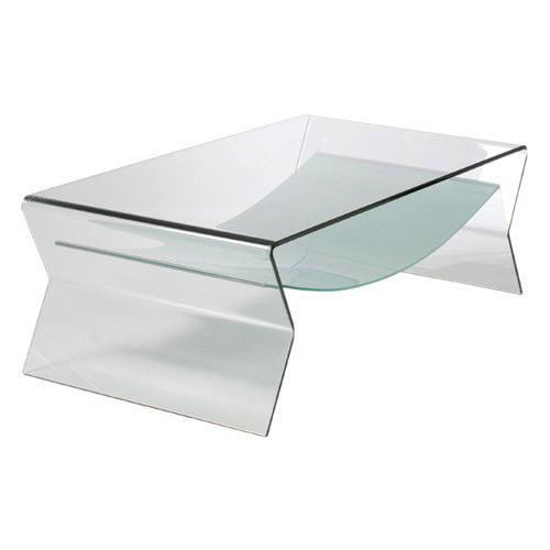 Euro Style Giacomo Glass Coffee Table