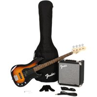 Affinity Series™ Precision Bass® PJ Pack, Laurel Fingerboard, Brown Sunburst, with Gig Bag and Rumble 15 Amplifier
