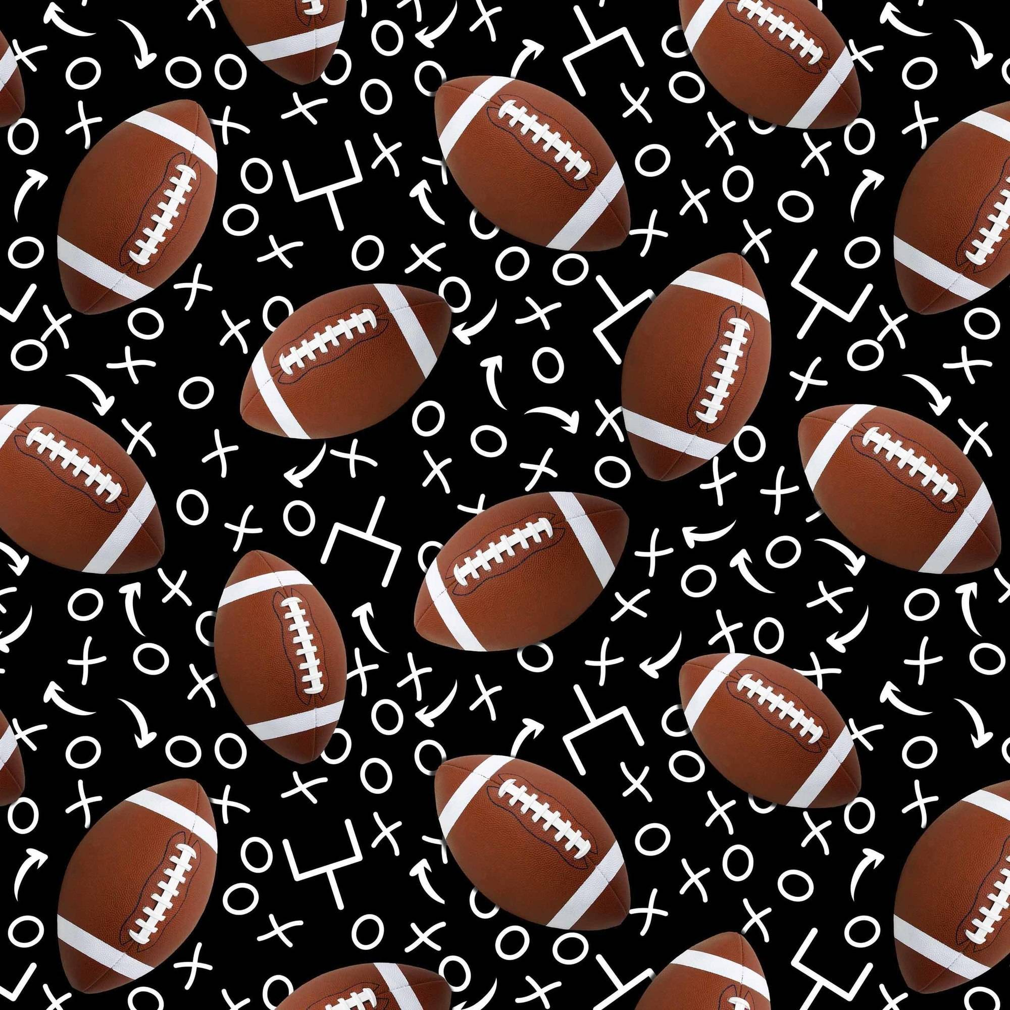 """Football Play Anti-Pill Polyester Fleece Fabric By The Yard, 60"""" Wide"""