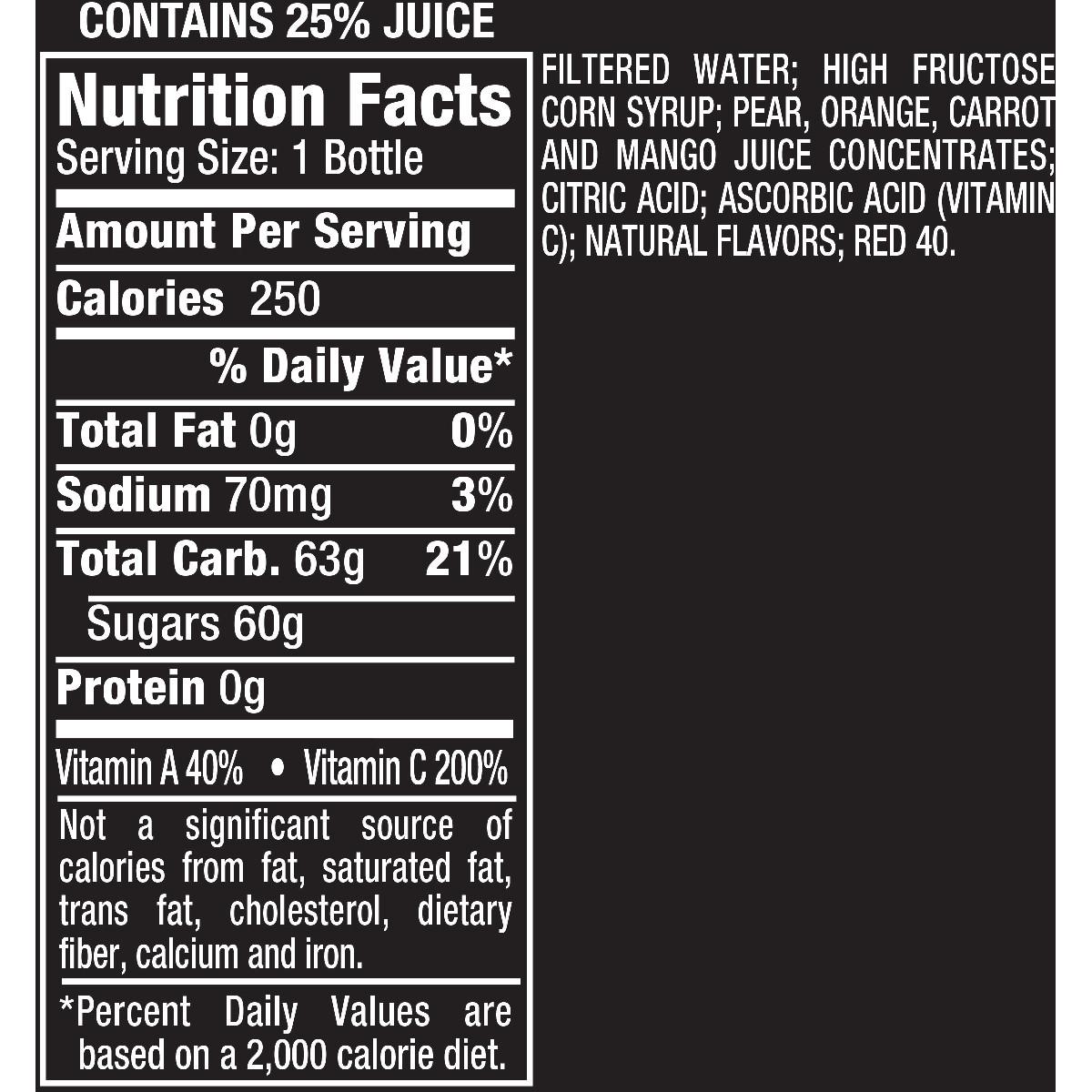 Mistic Mango Carrot Juice 16 Fl Oz Walmart Com