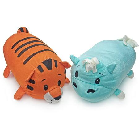 Stackable Animal Pillows, Hippopotamus, Tiger - Daniel Tiger Tigey Doll