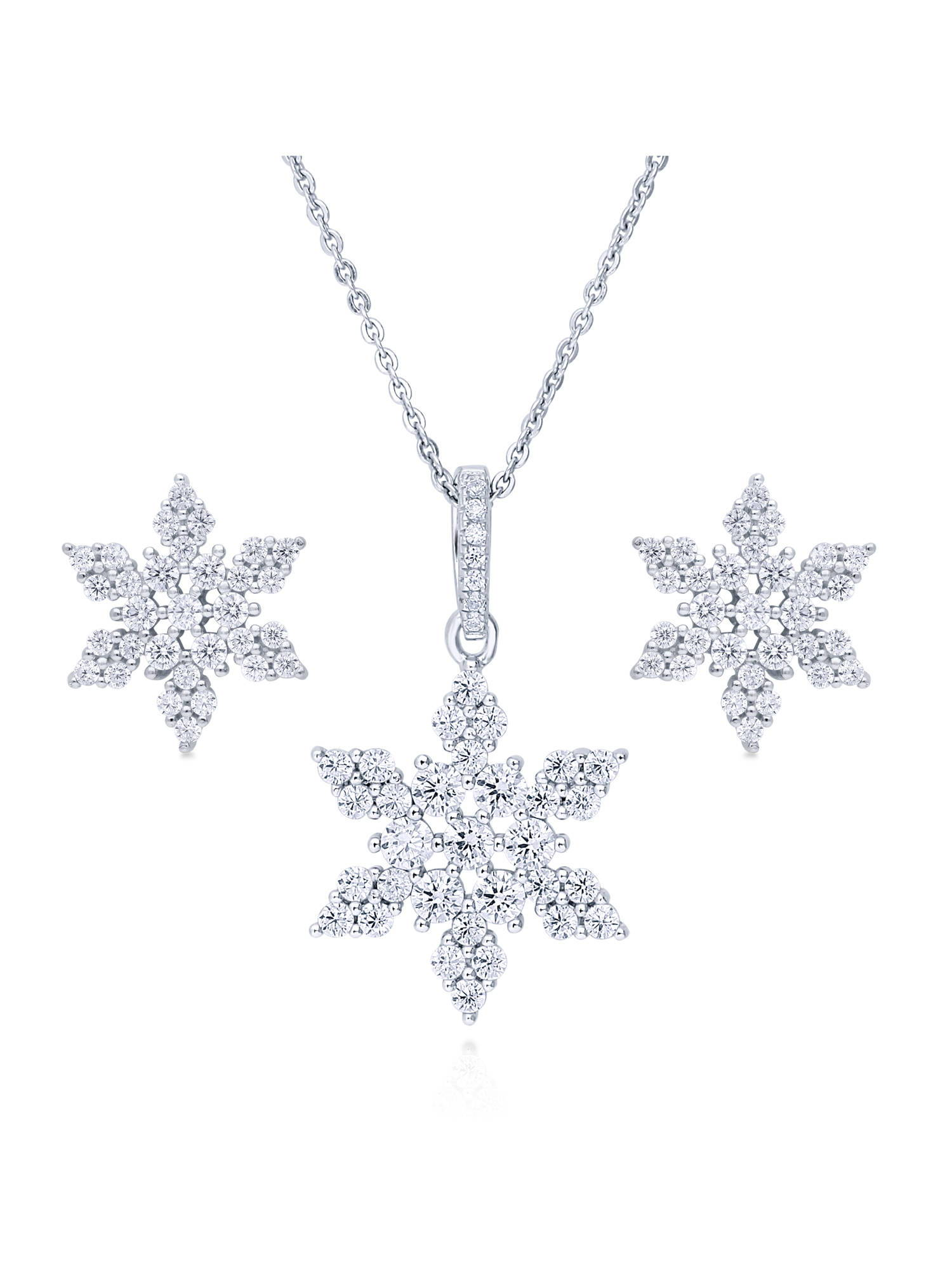 Snowflake earrings and necklace set