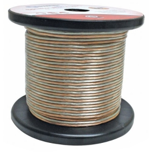 100FT 16AWG 2C SPKR CABLE CLEAR PREMIUM RETAIL BLISTER PACK