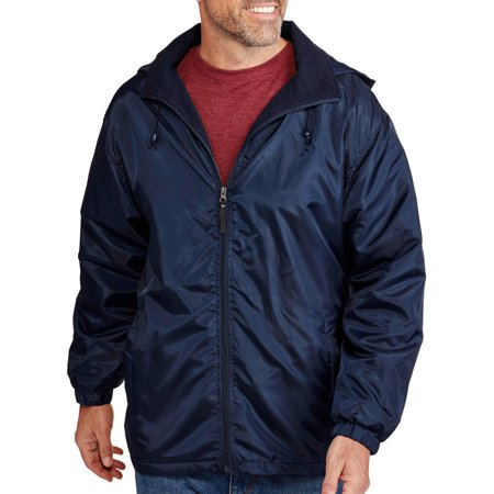 Men's Fleece Lined Windbreaker - Walmart.com