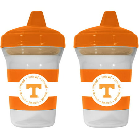 Baby Fanatic NCAA 2-Pack of Sippy Cups, BPA-Free, University of Tennessee
