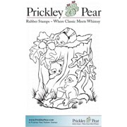Prickley Pear Cling Stamps 3.75 Inch X 3 Inch-Chipmunks At Play