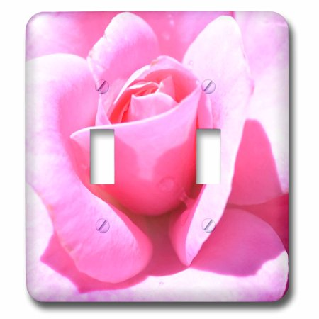 3dRose Pink Petals Rose Floral Flowers Flower Photography - Double Toggle Switch