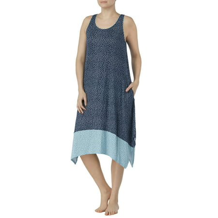 5179105d8bf7 Secret Treasures - Secret Treasures Women s and Women s Plus Modern Midi Sleepwear  Dress - Walmart.com