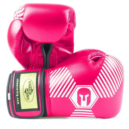 Cheerwing Boxing Gloves Professional Muay Thai Kickboxing Sparring Training Gloves Punching Bag - Pink Boxing Gloves