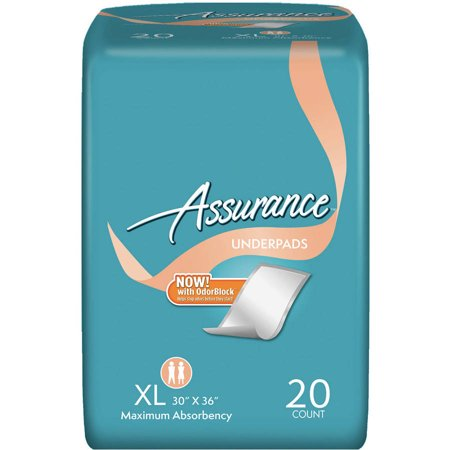 Assurance Protective Underpads  Xl  20 Ct