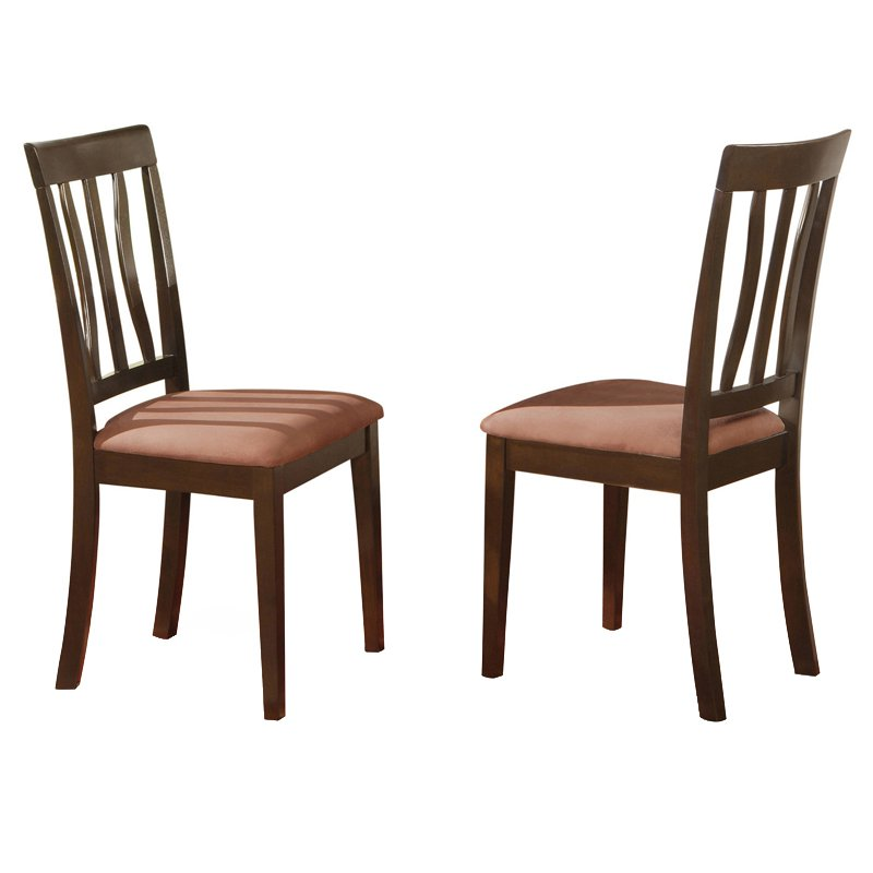 East West Furniture Antique Dining Chair With Microfiber Room Wood Seat Replacement