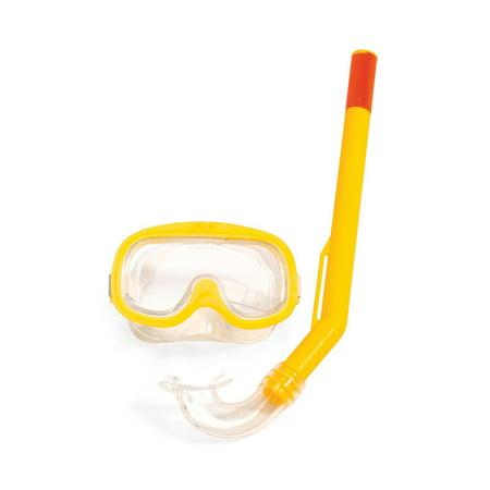 Black Small Scuba Equipment (Yellow Dolphin Junior Sport Scuba Swim Mask and Snorkel)