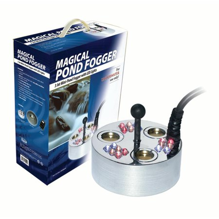 3 Jet Pond Fogger, 18 Led Lights, Transformer And