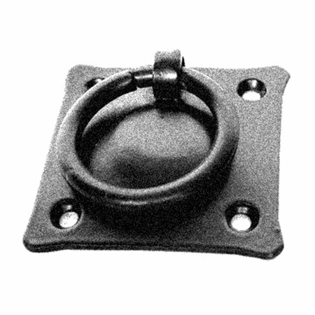 Black Iron Mission Style Ring Pull Black Cabinet Hardware 2in - Old Iron Ring Pulls