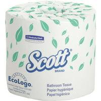 Scott, KCC04460, 2ply Standard Roll Bath Tissue, 80 / Carton, White