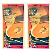 2 Boxes of Trader Joes Organic Creamy Tomato Soup - Gluten Free