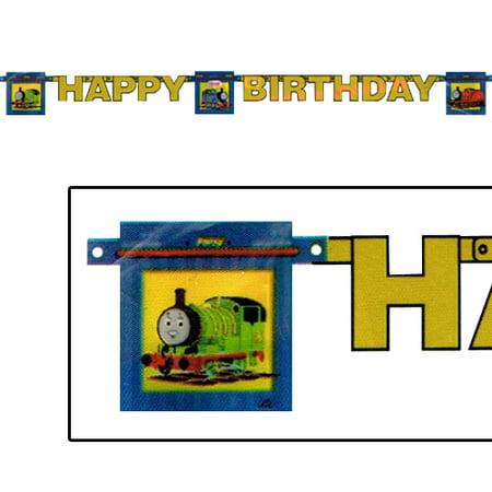 Thomas The Tank Birthday (Thomas the Tank Engine 'Full Steam Ahead' Happy Birthday Banner (1ct) )