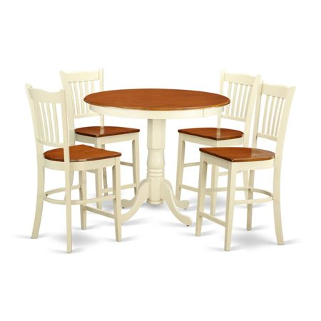 counter height dining pub table 4 bar stools with backs white finish. Black Bedroom Furniture Sets. Home Design Ideas