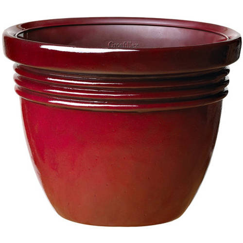 "Better Homes and Gardens Bombay 12"" Planter, Red"
