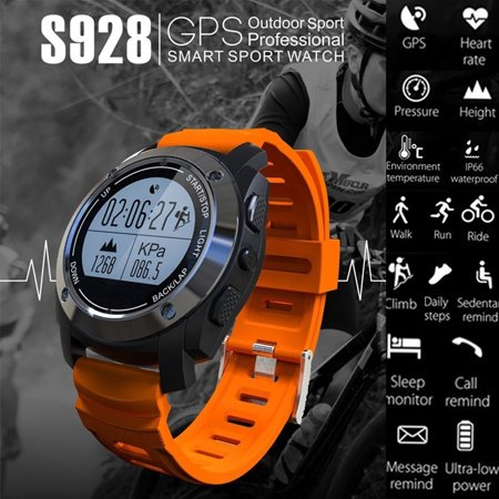 GPS Real-time Smart Watches Heart Rate Monitor Sports Wristband With Temperature Height Gyroscope for IOS  Android