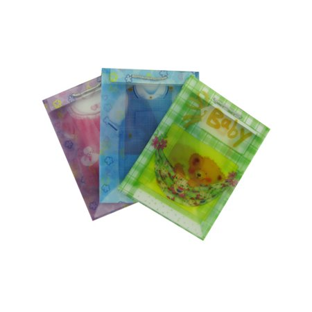 Bulk Buys Transparent Baby Gift Bags  Assorted Medium Size  Case Of 24
