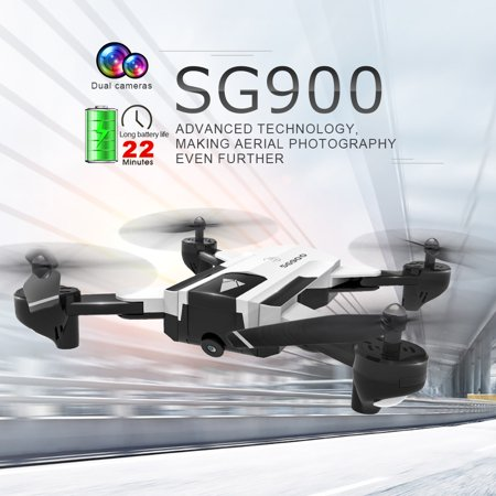 SG900 FPV RC Drone with 720P HD Camera 22mins Flight Time Optical Flow Positioning Follow Me Altitude Hold Foldable (Best Drone With Hd Camera Under $100)