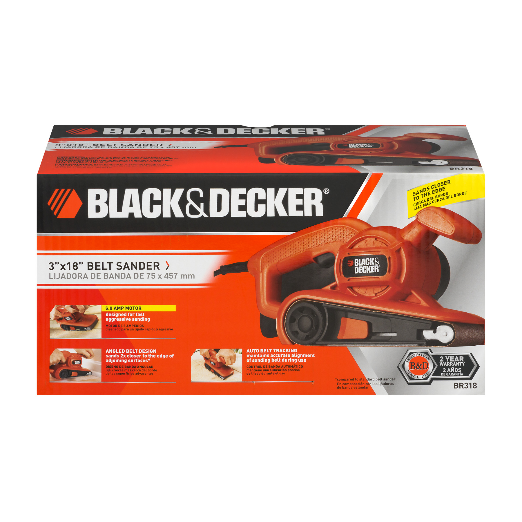"Black & Decker Belt Sander 3"" X 18"", 1.0 CT"