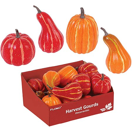 Halloween Decorating Pinterest (FLOMO Assorted Size Harvest Faux Gourds and Pumpkins for Halloween, Fall and Thanksgiving Decorating)