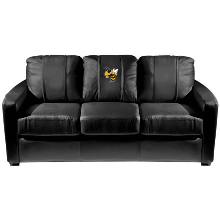 Georgia Couch (Georgia Tech Yellow Jackets Collegiate Silver Sofa with Buzz logo )