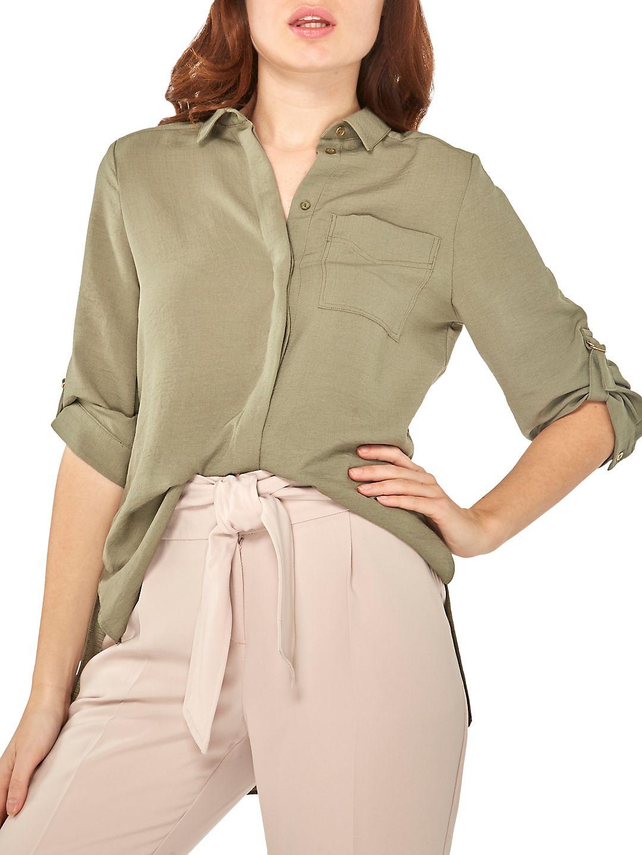 Classic Roll-Sleeve Shirt