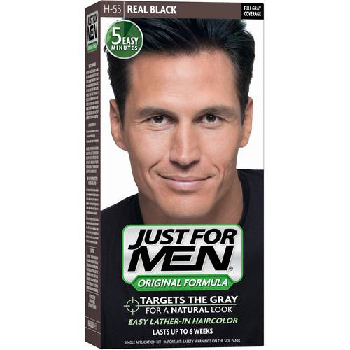 Just For Men Original Formula Men's Hair Color, Real Black, Shade H-55