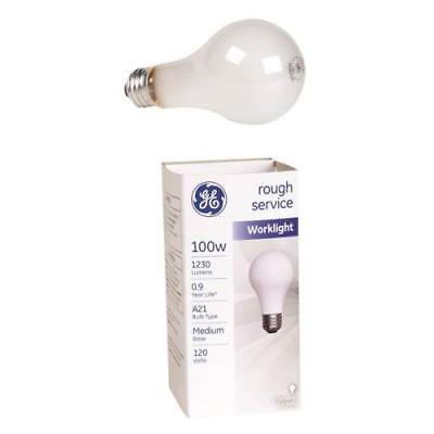 GE Rough Service A - Line Light Bulb, 100W 100w Rough Service Bulb