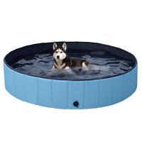 SmileMart Foldable Pet Swimming Pool Wash Tub for Dogs Cats