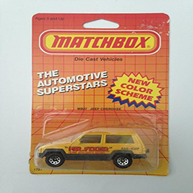 "1987 Matchbox MB27 ""MR. FIXER"" JEEP CHEROKEE Automotive Superstars Series (1:64... by"