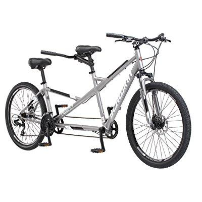 schwinn twinn tandem 20/ one size wheel bicycle, grey one frame size