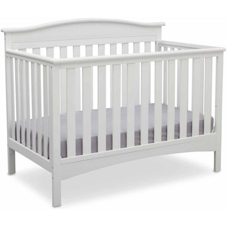 Delta Children Baker 4-in-1 Convertible Crib, Bianca White