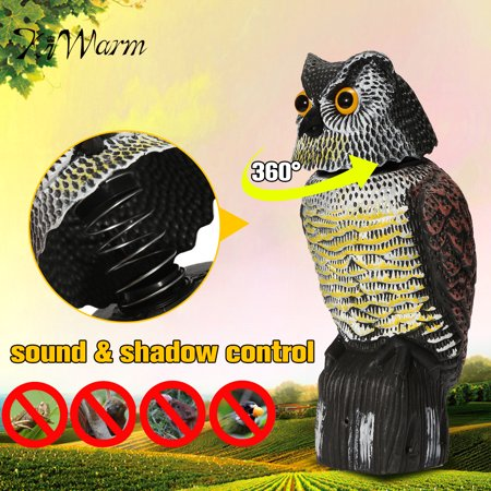 Simulated Owl Scarecrow Rotating Head Fake Hunting Shooting Decoy
