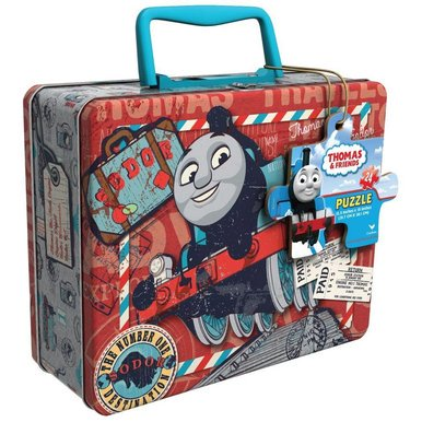 Thomas the Tank 24-Piece Jigsaw Puzzle, in Lunch Box with Handle (Heavy Duty Top Handle Jigsaw)