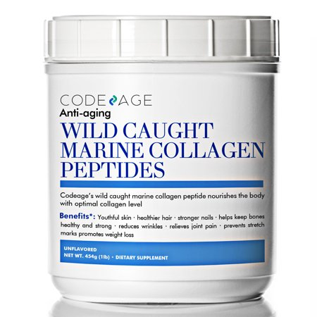 Collagen Protein Supplement (Premium Anti-Aging Marine Collagen Powder 16oz - 100% Wild-Caught Hydrolyzed Fish Collagen Peptides - Type 1 & 3 Collagen Protein Supplement - Paleo Friendly, Non-GMO, Gluten Free )