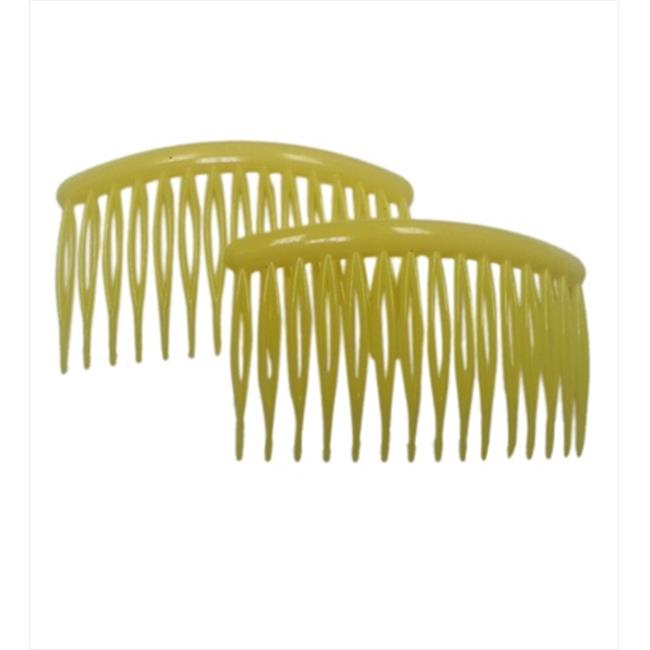 CoverYourHair 60736 Yellow 3 Inch Plastic Hair Combs