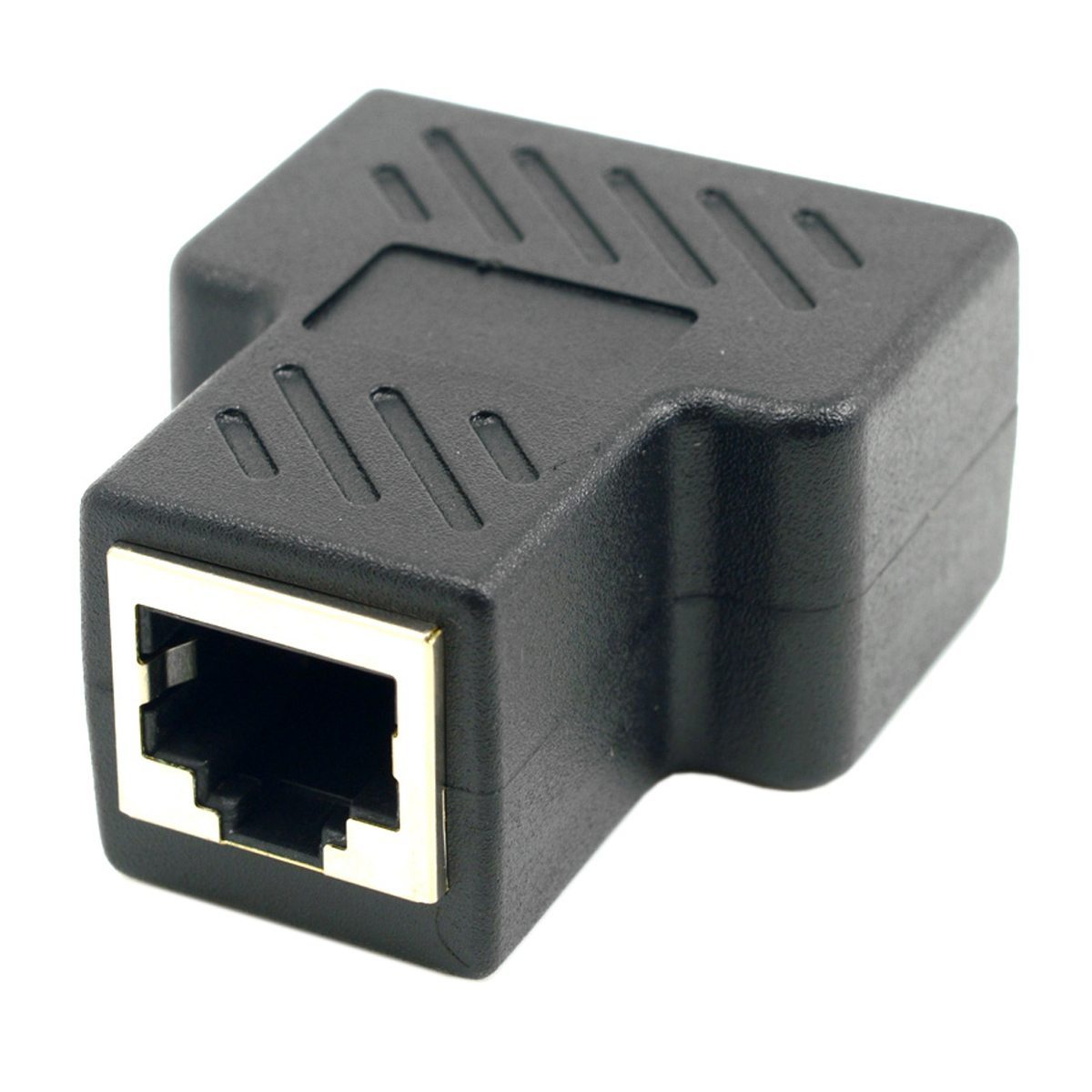 Network Splitter Cat6 RJ45 8P8C Plug to Dual RJ45 Ethernet Patch Cord Adapter