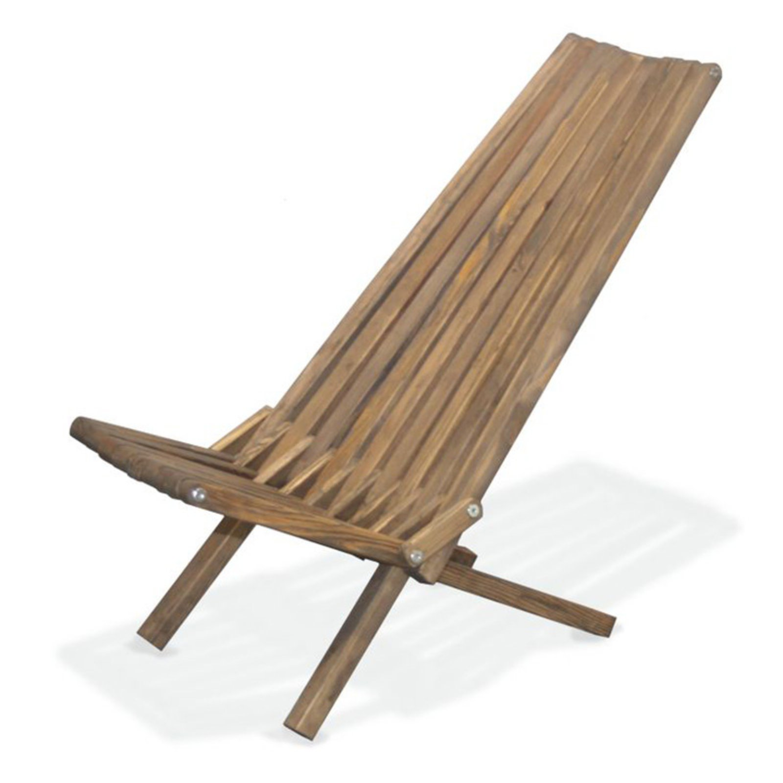 GloDea Xquare X45 Foldable Wooden Tall Back Patio Lounge Chair
