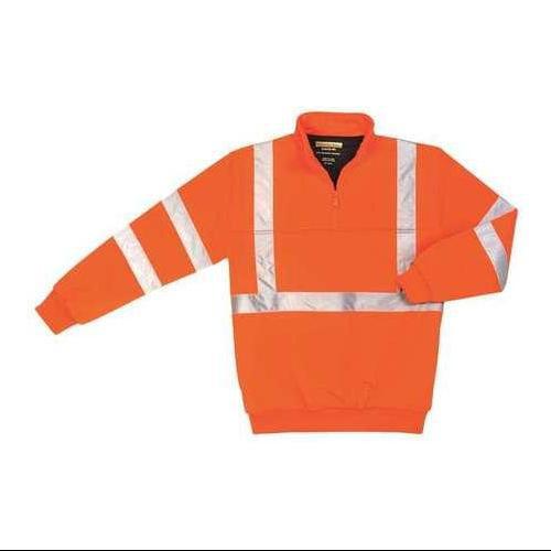 UPA542 ORANGE XL Hi-Viz Sweatshirt, Orange, Polyamide, XL