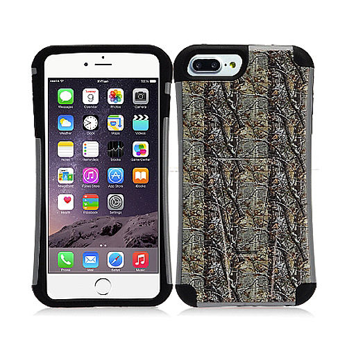 Mystcase™ For Apple iPhone 7 PLUS HYBRID KICKSTAND Rubber Protector Case + Screen Guard