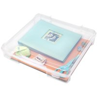 "IRIS USA, 12"" x 12 Plastic Scrapbook Case, 6 Pack, Clear"