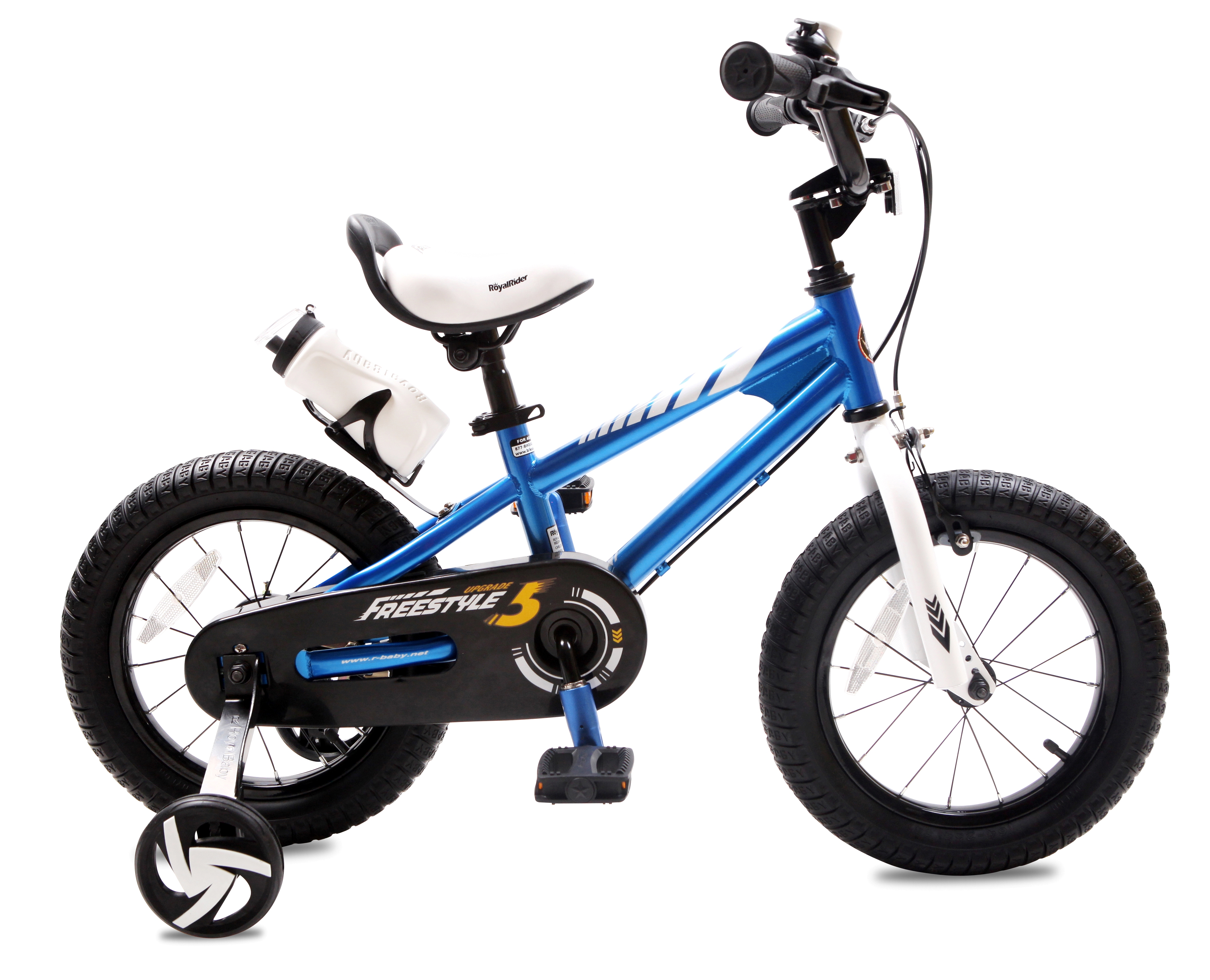 BMX Freestyle 14 inch Kid's Bike, Blue with two hand brakes by Royalbaby