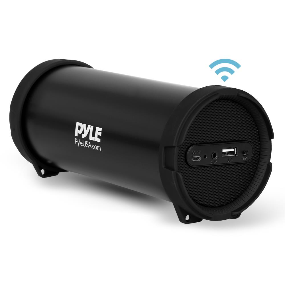 Pyle PBMSPG6 - Portable Bluetooth Wireless BoomBox Stereo System, Built-in Rechargeable Battery, MP3/USB/FM Radio