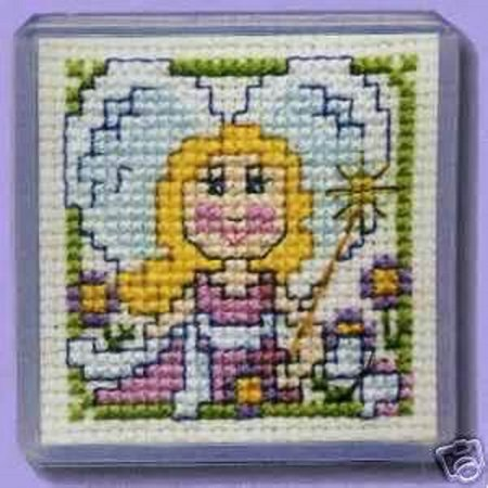 - Textile Heritage Magnet Counted Cross Stitch Kit - Fairy