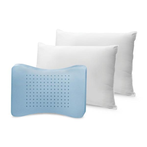 BioPEDIC Memory Plus Classic Memory Foam And Fiber Pillows, 2 Pack
