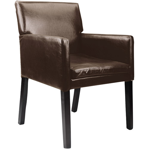 CorLiving Antonio Bonder Leather Accent Chair, Dark Brown